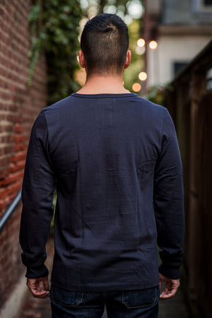 Merz b. Schwanen 206 Henley Long Sleeve - Night Blue