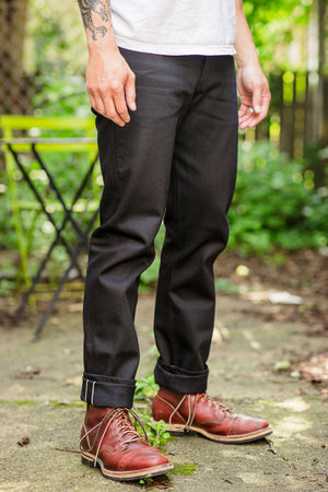 Naked & Famous Denim Solid Black Selvedge - Weird Guy