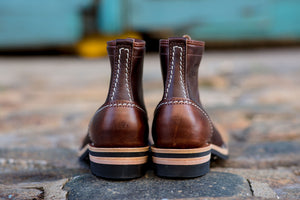 Wesco x Franklin & Poe LTT Jobmaster Boots - Brown Horween Chromexcel