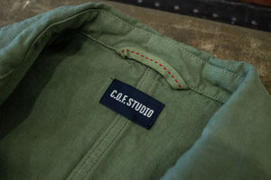 C.O.F. Studio Painter Jacket Cotton Linen Twill - Military