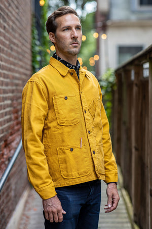 Tellason Coverall Jacket - Garment Dyed Gold