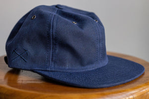3sixteen Waxed Canvas Baseball Cap - Navy