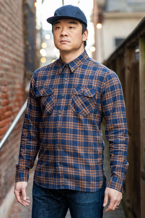 Freenote Cloth Jepson - Navy Check