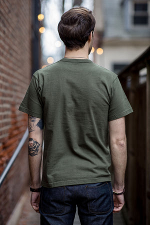 Iron Heart IHT-1610L Loopwheel T-shirt - Olive