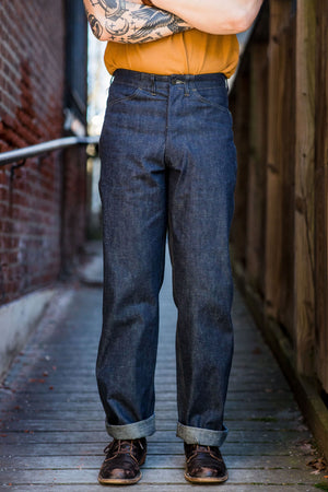 "Mister Freedom Raiders Trousers - 2x1 ""Army"" Denim"