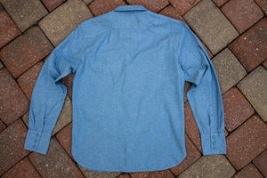 Freenote Cloth Calico - Chambray with Turquoise Buttons
