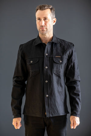 Indigofera Copeland Selvedge Shirt - Gunpowder Black - Franklin & Poe
