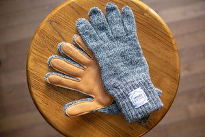 Upstate Stock Ragg Wool Gloves with Deerskin - Franklin & Poe