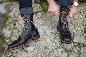 "White's Boots x Franklin & Poe MP Service Boot (F&P Serial No. 19-004) - 8"" Black Chromexcel"