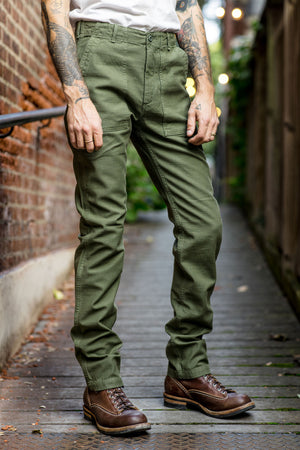 Tellason Fatigue Pant Tapered Leg - Olive Sateen