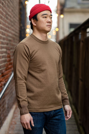 Stevenson Overall Cotton Crewneck Thermal - Brown