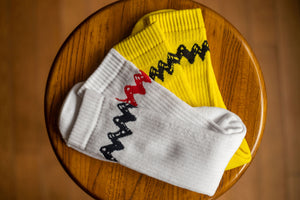 TSPTR Charlie Brown Socks - White Black/Red