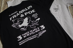 3sixteen x Franklin & Poe Collaboration F&P 3rd Anniversary Tee - Black