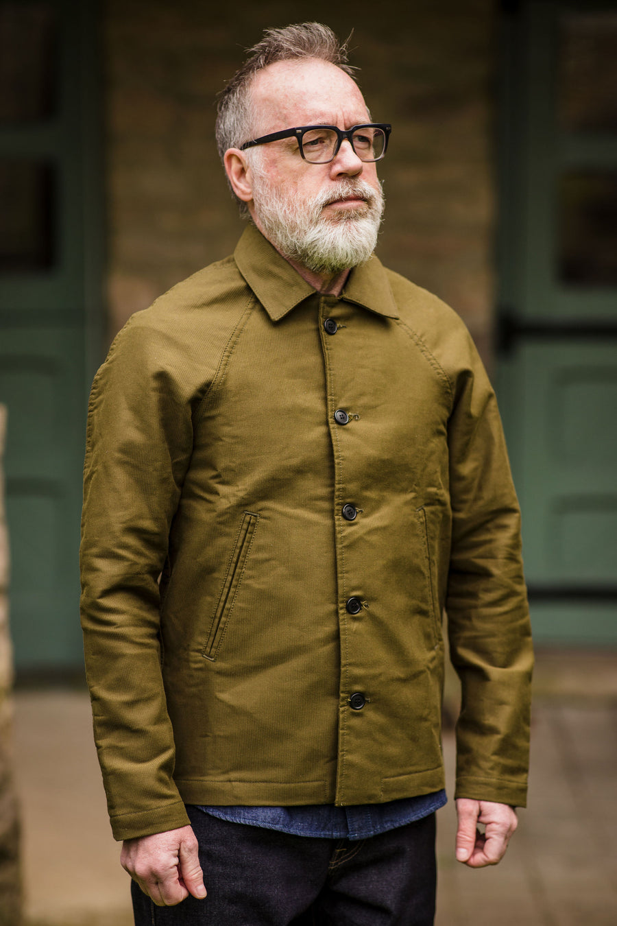 Rogue Territory Peacoat - Olive Jungle Cloth