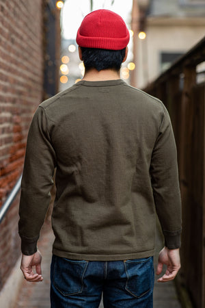 Stevenson Overall Cotton Crewneck Thermal - Olive