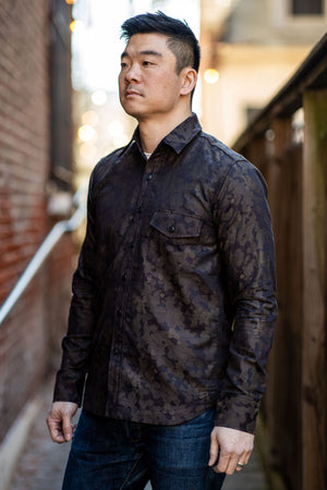 Rogue Territory Oxford Work Shirt - Brown Camo