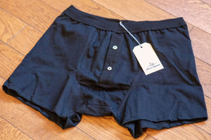 Merz b. Schwanen 255 Button Facing Underpants - Deep Black - Franklin & Poe