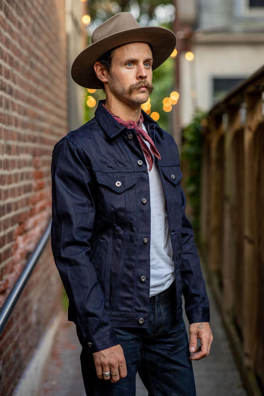 3sixteen Lightweight Type3 Denim Jacket - 122x (Indigo/Black)