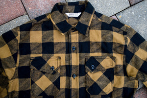 3sixteen Drunk Check Crosscut Flannel - Mustard/Black
