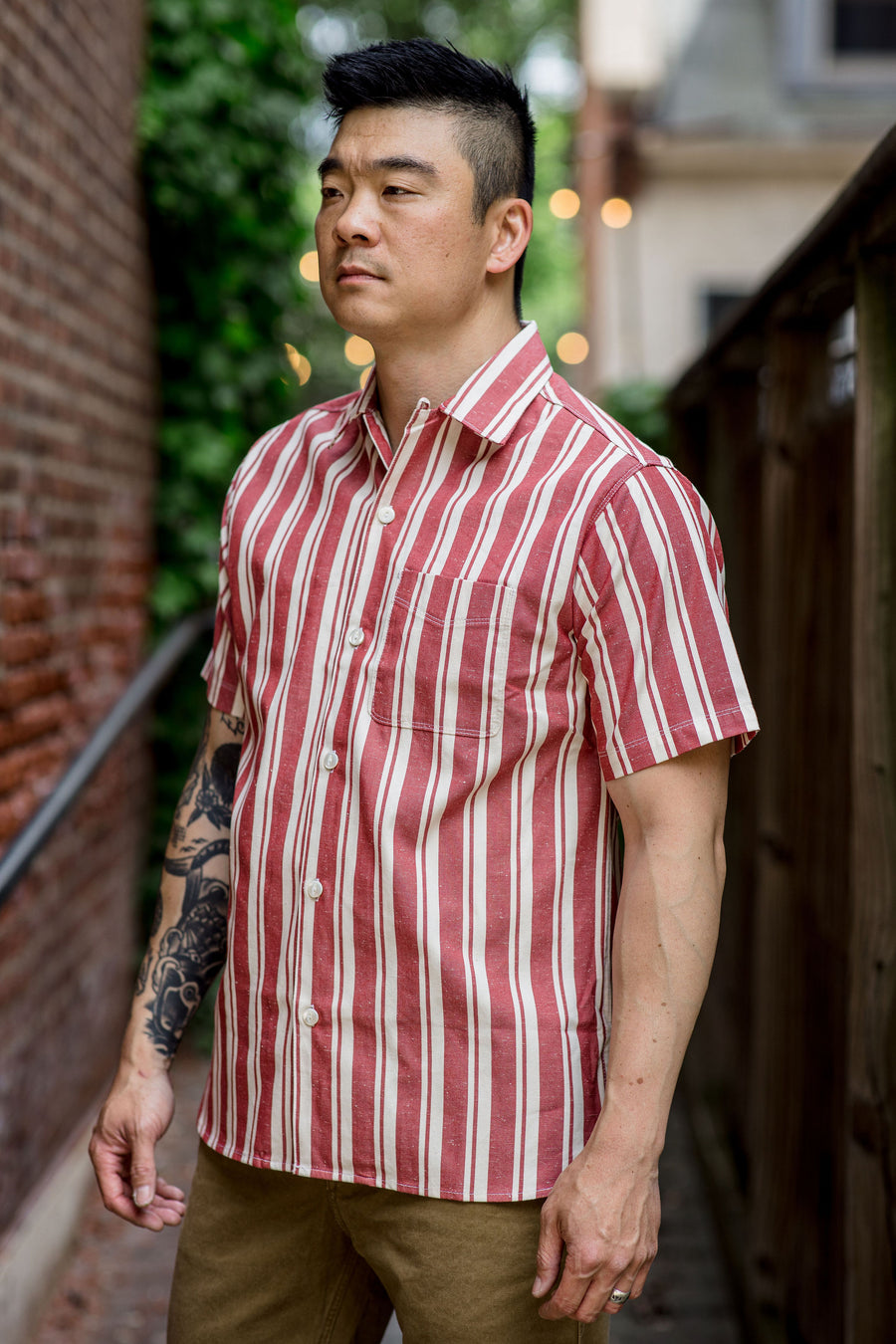 Freenote Cloth Hawaiian - Red Stripe