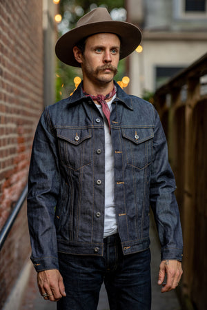 3sixteen Lightweight Type 3 Denim Jacket - 101x (Indigo/White)