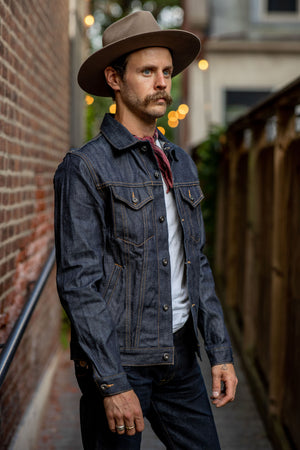 3sixteen Lightweight Type3 Denim Jacket - 101x (Indigo/White)