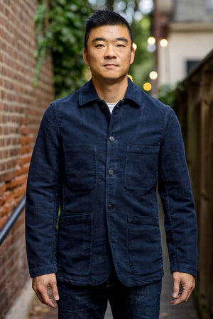 C.O.F. Studio Brewer Jacket - Navy Moleskin