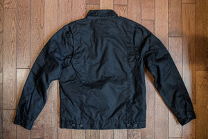 Freenote Cloth Riders Jacket Waxed Canvas - Black
