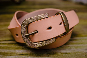 Hollows Leather Trail Belt - Natural Veg Tan Brass Buckle