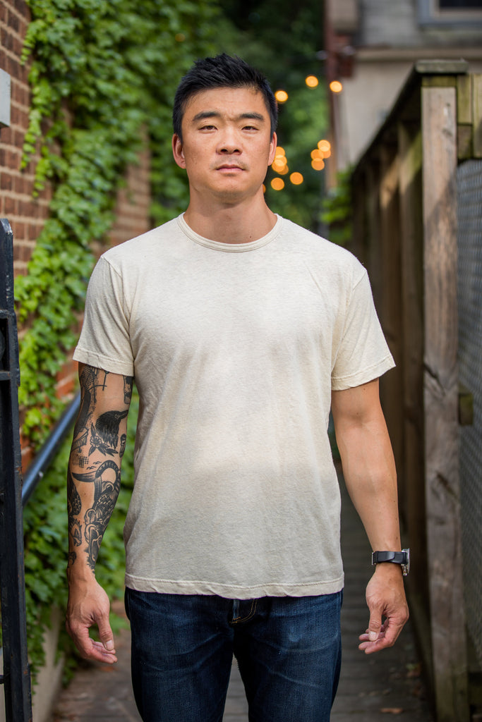 Left Field NYC Hemp Cotton No Pocket Tee - Natural - Franklin & Poe