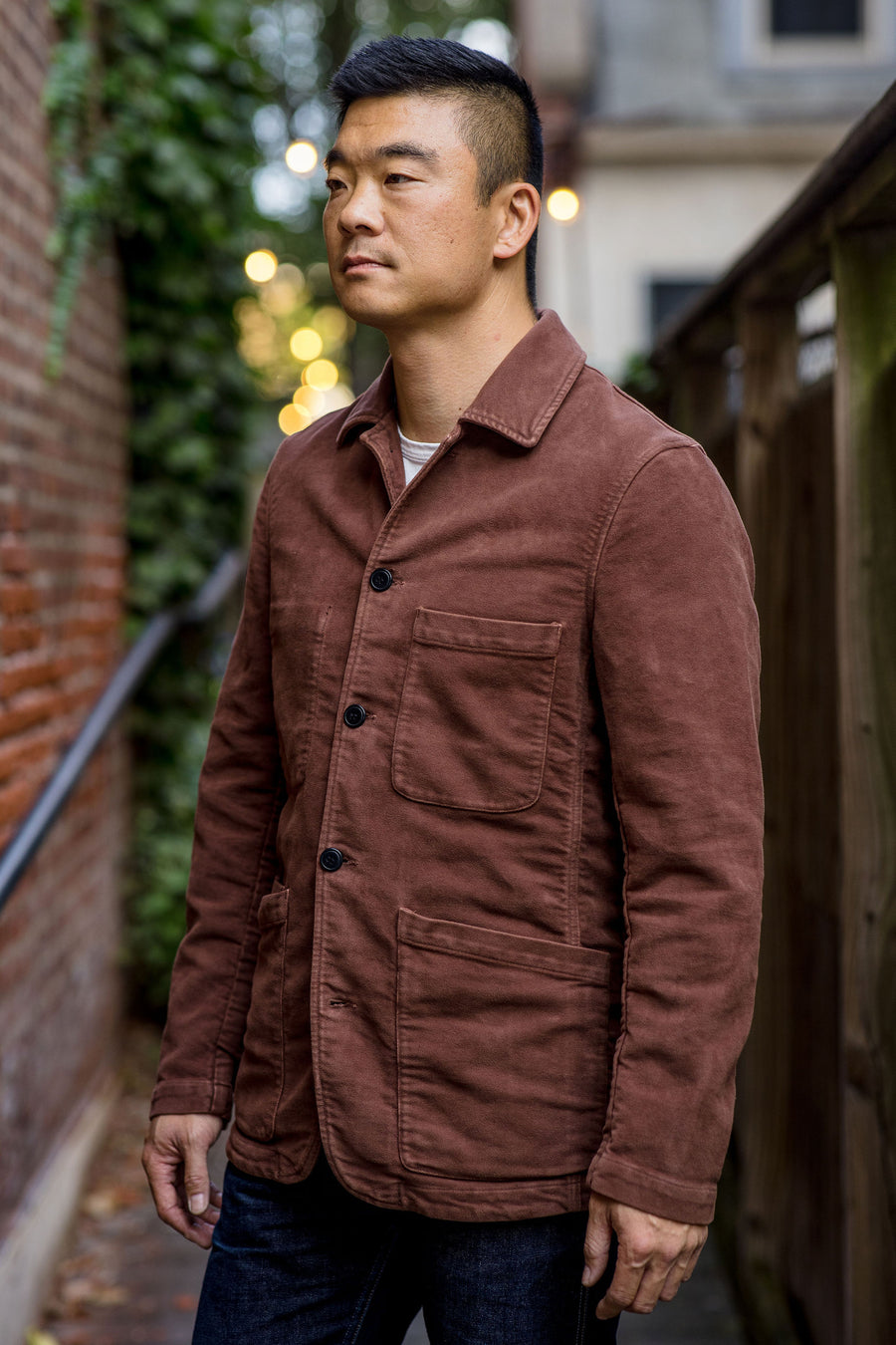 C.O.F. Studio Brewer Jacket - Brick Moleskin