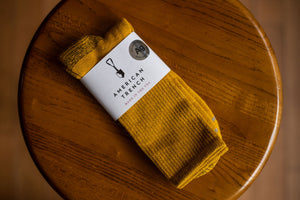American Trench Silver Crew Socks