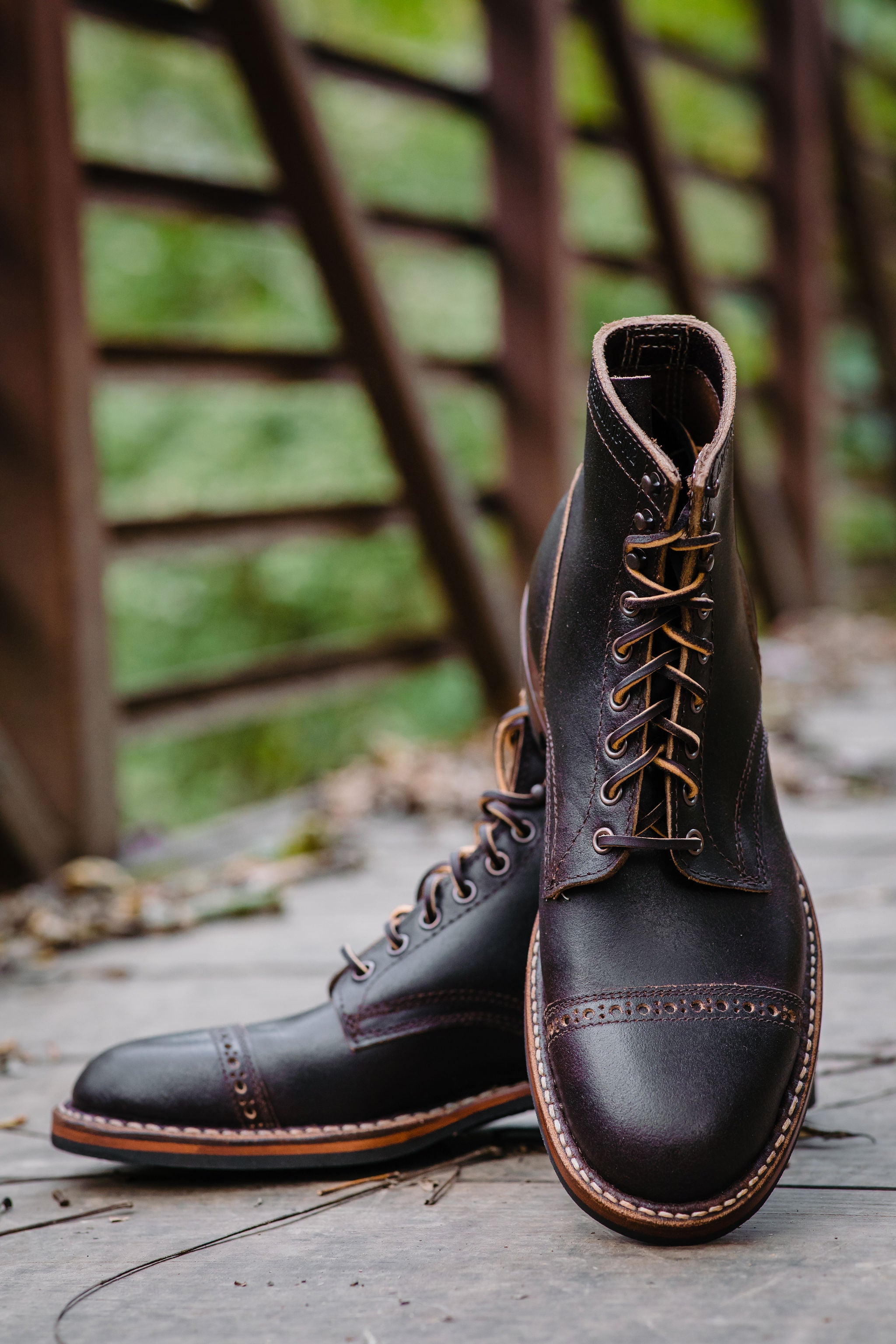 8dc712f3043 White's Boots x Franklin & Poe MP Service Boot (F&P Serial No. 18-002) -  Brown Waxed Flesh