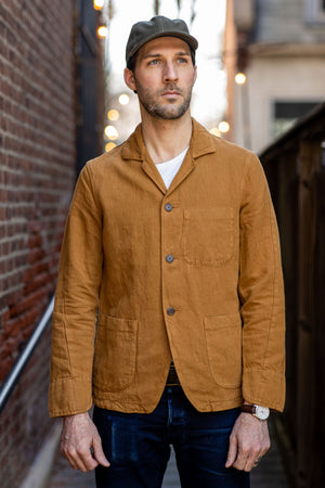 C.O.F. Studio Painter Jacket Cotton Linen Twill - Duck