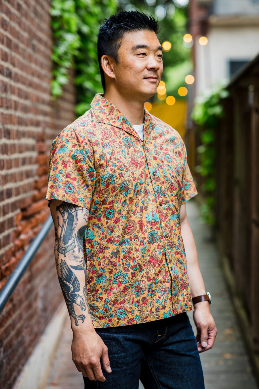 3sixteen Floral Leisure Shirt - Sand