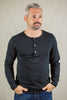 Merz B. Schwanen 206 Henley Long Sleeve - Black - Franklin & Poe
