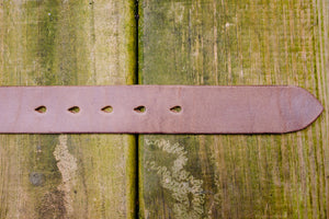 Hollows Leather Trail Belt - Natural Chromexcel Brass Buckle