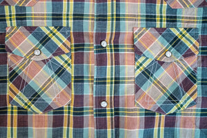 Eat Dust Hickok Western Shirt - Madras Check