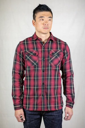 3sixteen Crosscut Flannel - Red Plaid - Franklin & Poe