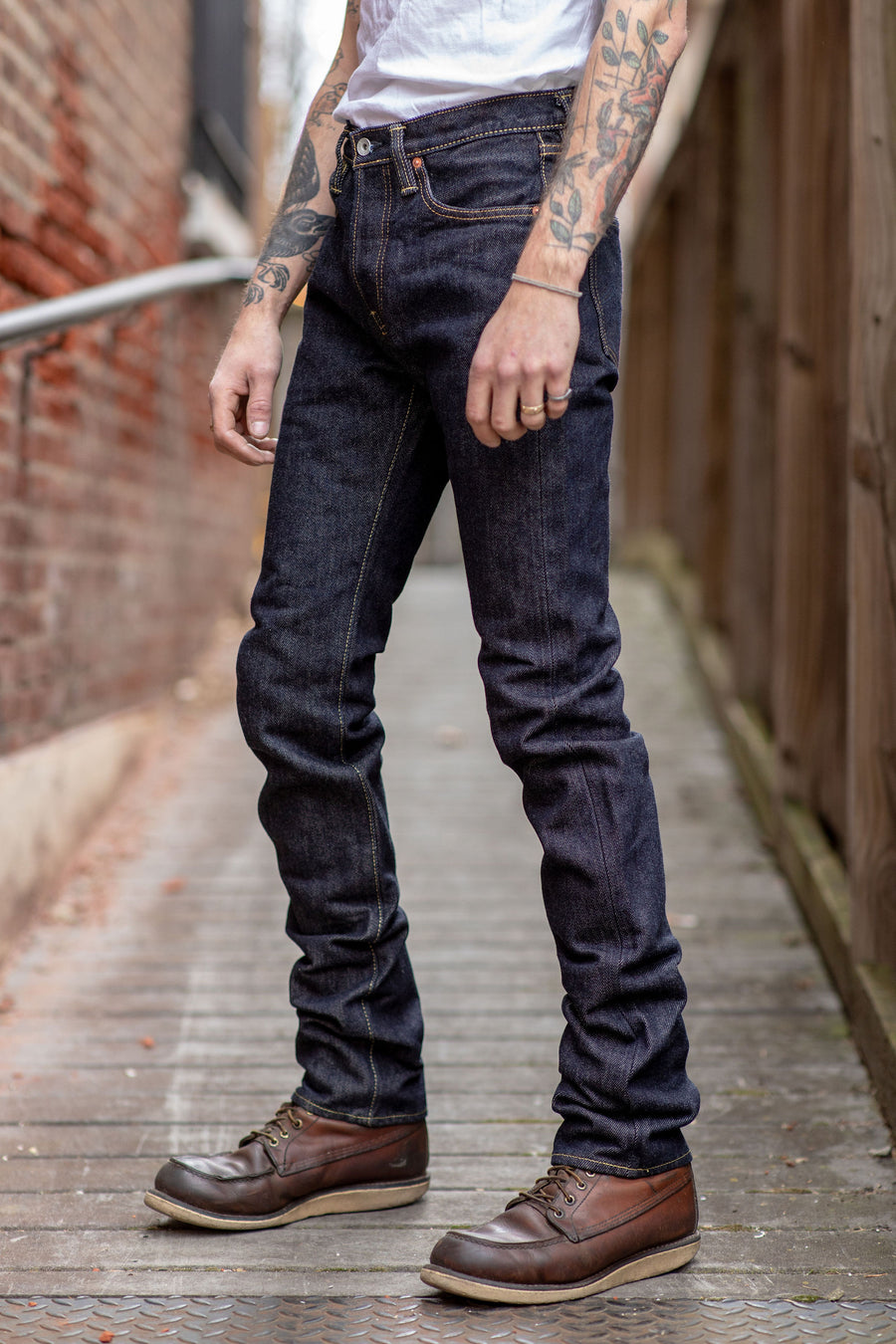 Iron Heart IH-555S-21 - 21oz. Selvedge Denim Super Slim