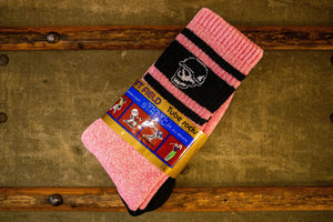 Left Field Skull Stripe Super Plush Tube Socks - Elvis