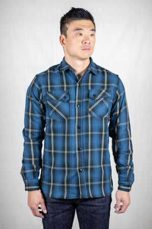 3sixteen Crosscut Flannel - Slate Blue Plaid - Franklin & Poe