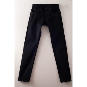 Railcar Fine Goods Spikes X026 Straight Slim Leg Black on Black - Franklin & Poe