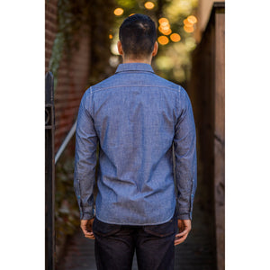 Iron Heart IHSH-133 6oz. Selvedge Chambray Work Shirt - Natural Indigo - Franklin & Poe