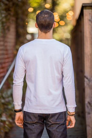 3sixteen Long Sleeve Henley - White - Franklin & Poe