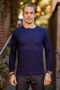 3sixteen Long Sleeve Henley - Indigo - Franklin & Poe