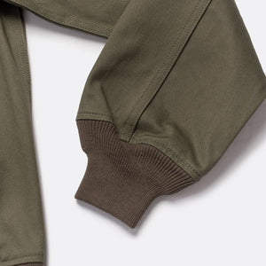 Iron Heart Denim 10.5oz Chino Tanker Jacket - Olive