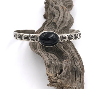 Numi Olive Black Onyx Low Dome Stacker Cuff - Franklin & Poe