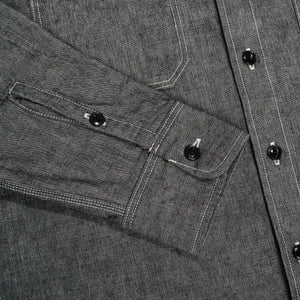 Iron Heart IHSH-21 10oz. Selvedge Chambray Work Shirt - Black - Franklin & Poe
