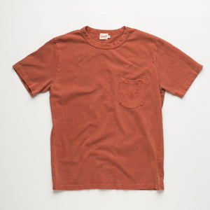 Freenote Cloth Vintage Wash Pocket T-Shirt - Rust
